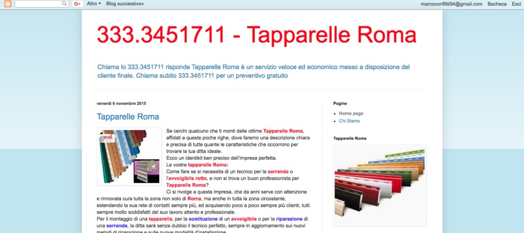 333 3451711 Tapparelle Roma