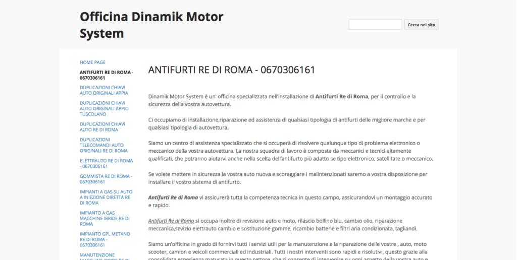 ANTIFURTI RE DI ROMA 0670306161 Officina Dinamik Motor System