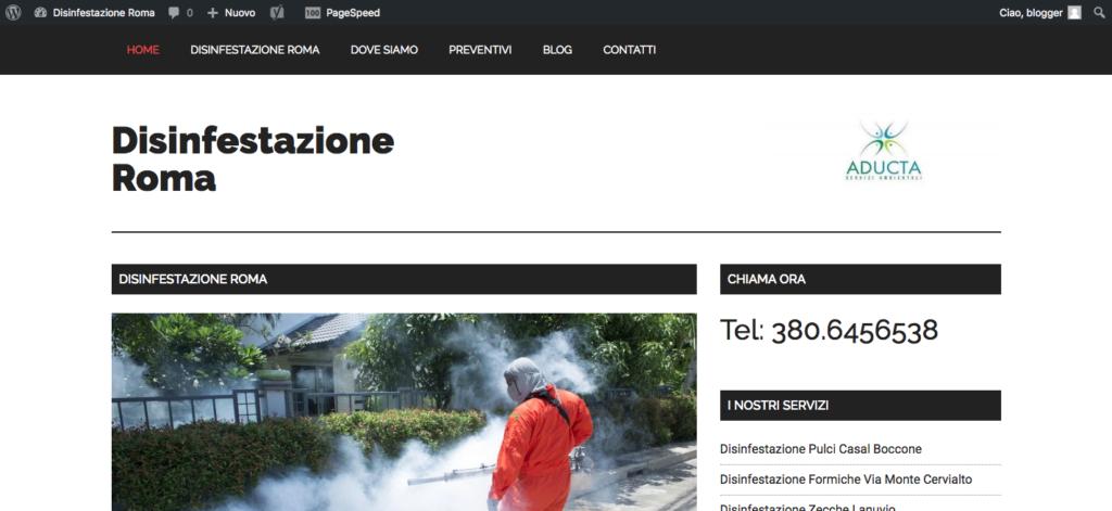 Disinfestazione Roma Aducta Tel 380 6456538