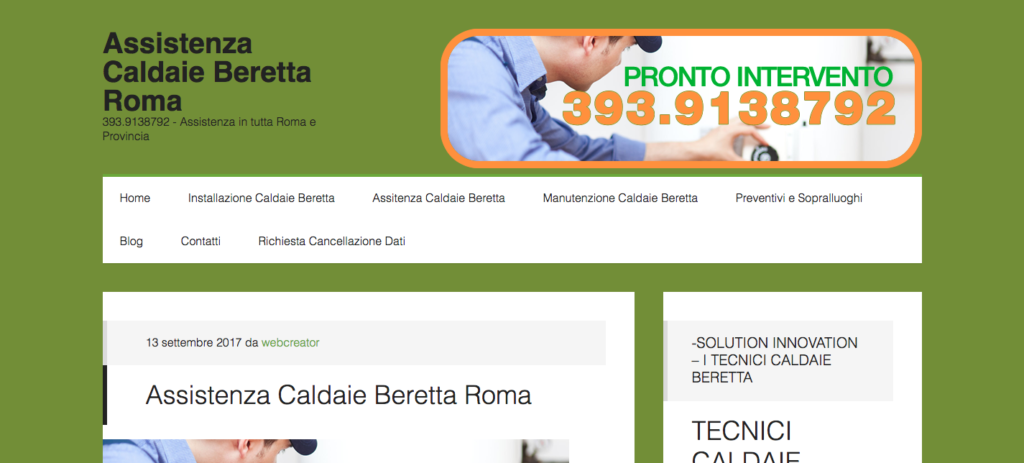 Assistenza Caldaie Beretta Roma 393 9138792 Assistenza in tutta Roma e Provincia