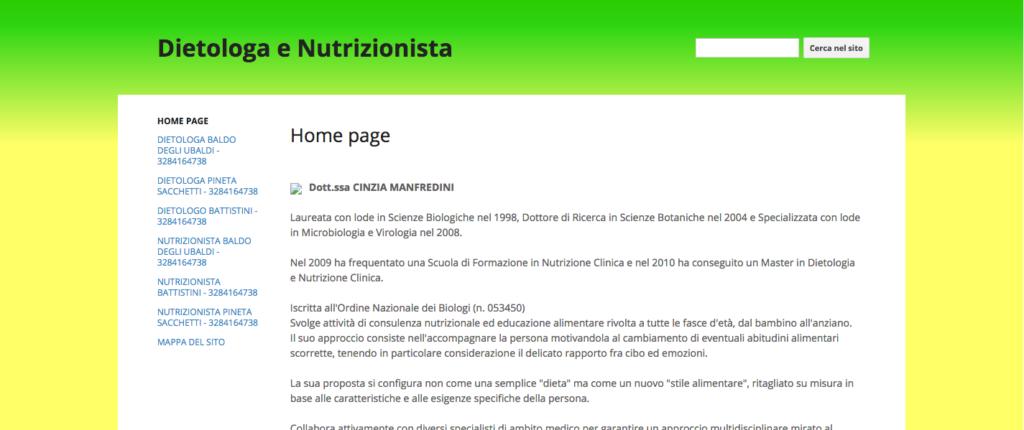 Dietologa e Nutrizionista