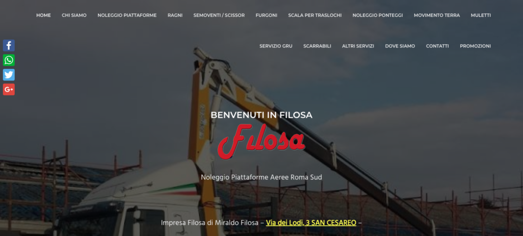 Noleggio Ponteggi Roma Sud Filosa Tel 39 06 95 59 50 82