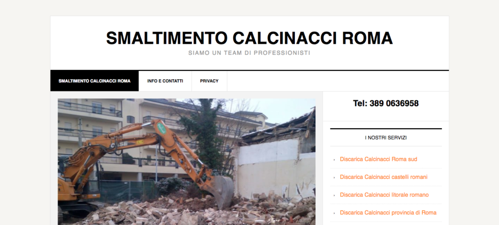www.smaltimentocalcinacciroma.it