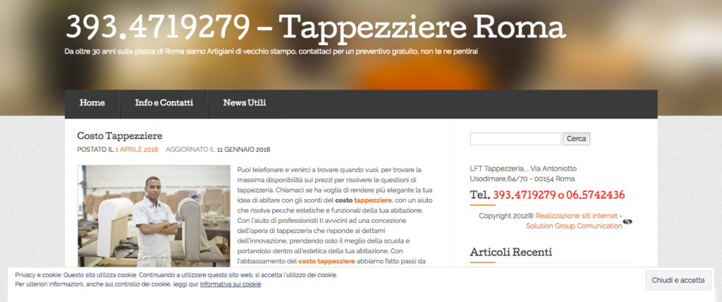 393 4719279 Tappezziere Roma