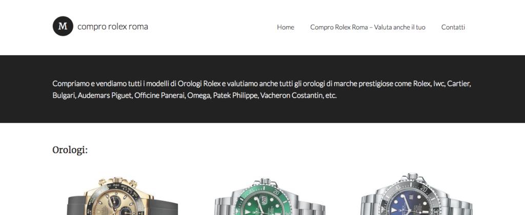 Compro Rolex Roma Orologi di Lusso senza tempo