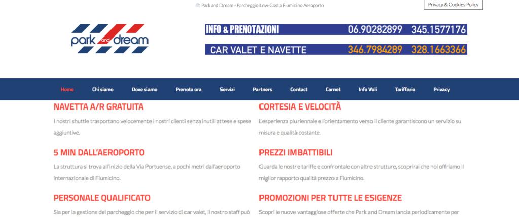Parcheggio Aeroporto Fiumicino Low Cost Park and Dream 9729 Parcheggio Fiumicino Aeroporto Park and Dream Parcheggio low cost Aeroporto di Fiumicino Roma