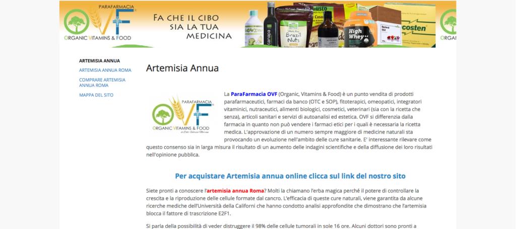 Artemisia annua Roma