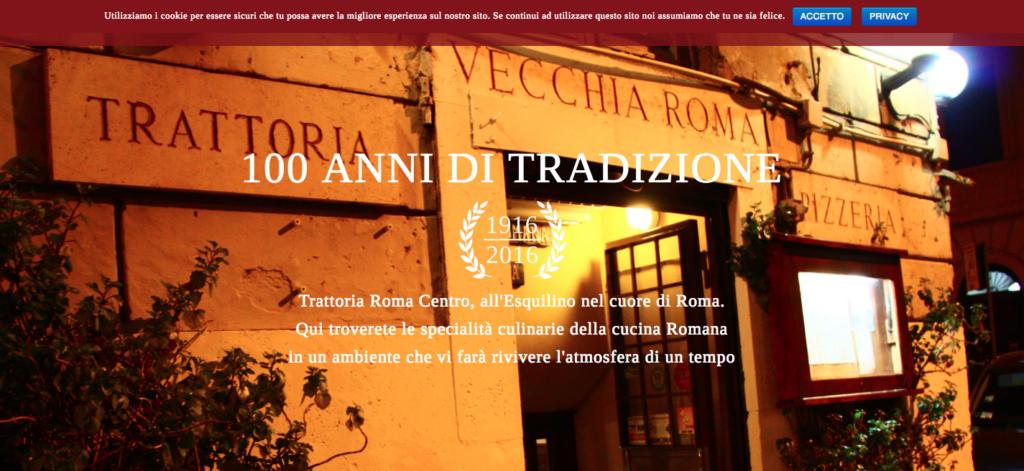 www.trattoriavecchiaroma.it