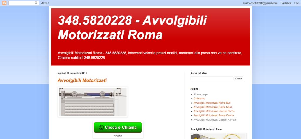 348 5820228 - Avvolgibili Motorizzati Roma